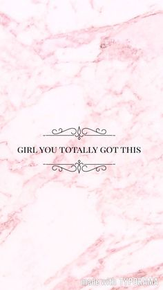 girl pink marble wallpaper inspiration quote