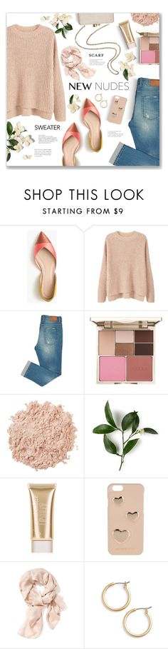 """Winter Nudes!"" by lilymillyrose ❤ liked on Polyvore featuring J.Crew, Kayu, MANGO, Stila, La Mer, Jane Iredale, MICHAEL Michael Kors, Old Navy and Nordstrom"