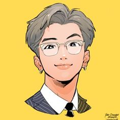 My dad with cute dimples namjoon Bts Chibi, Chibi Hair, Anime Chibi, Anime Art, Bts Anime, Anime Guys, Foto Bts, Ekko League Of Legends, Fanart Bts