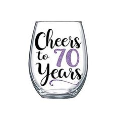 Birthday Gifts for Women 1949 Mom Large Stemless Wine Glass for Her 0109 60th Birthday Party Decorations, 70th Birthday Parties, Mom Birthday Gift, Birthday Gifts For Women, 70th Birthday Ideas For Mom, 40th Birthday Quotes, Happy Birthday Images, Happy Birthday Greetings, Birthday Celebrations