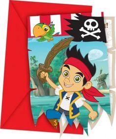 Partyeinladungskarten Jack and the Neverland Piraten