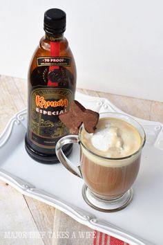 Need a Christmas Coffee Drink? Look no further than this Christmas Latte. A spin off of the Hot Buttered Rum, it features fresh coffee and Kahlua. Vanilla Ice Cream, Whipped Cream, Hot Buttered Rum, Kahlua Recipes, Cinnamon Coffee, Christmas Coffee, Fresh Coffee, French Vanilla