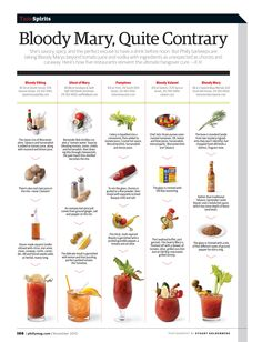 5 Different Bloody Mary Styles - the second one sounds tasty
