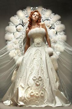 russian winter wedding dress bride dress russia wedding