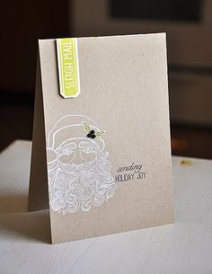 Sleigh Mail Card by Maile Belles for Papertrey Ink (September 2012)