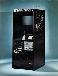 Star Trek arcade flyer (For-Play, 1972). The game was a clone of Computer Space, released a year before.