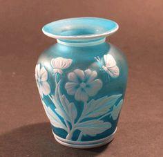 Thomas Webb Cameo Glass Vase Antique | Thmas Webb