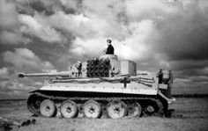 The crew of a Tiger 1 at  gunnery range training inside Germany