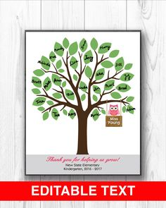 A personal favorite from my Etsy shop https://www.etsy.com/listing/592554404/teacher-tree-personalized-teacher