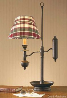 The Country Porch features Salem Desk Lamp from Park Designs. Country Lamps, Country Decor, Farmhouse Decor, Swag Curtains, Lined Curtains, Primitive Lighting, Primitive Decor, Window Swags, Kitchen Decor Themes
