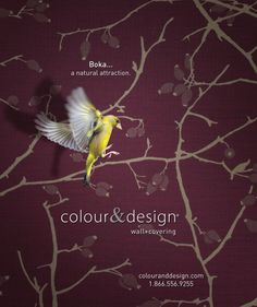 Creative Design And Photography For Colour Designs BokaTM Wall Covering Advertisement In The September Interior MagazineEmail