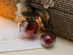 Collar con mensaje personalizado de rosa en globo con anillo de rosa en globo en Corona de Papel Accesorios