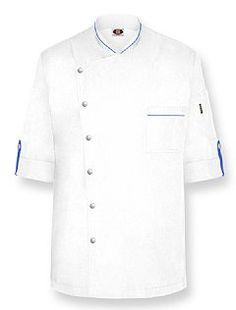 """""""PASCAL-SPLIT"""" Chef Coat-White"""