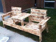 Burned bench