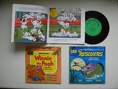 read along books & records ... I had so many of these.  I loved them!  When you hear the chime.  Turn the page.  : )