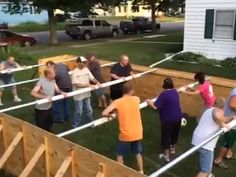DIY Giant Foosball Table....these are the BEST Backyard Game Ideas for Kids & Adults!