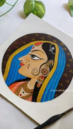 Pichwai Paintings, Cute Canvas Paintings, Canvas Painting Tutorials, Indian Art Paintings, Diy Canvas Art, Indian Art Gallery, Rajasthani Art, Folk Art Flowers, Indian Folk Art
