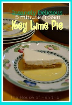 Absolutely crazy for this Key Lime Pie! It's only 4 ingredients and takes just minutes to prepare. Because it's kept in the freezer, it is incredibly refreshing and simply perfect!