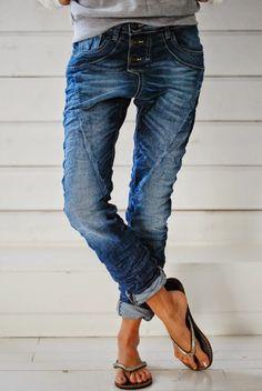 trendy Low Cut Jeans für Damen