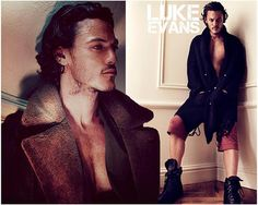 Luke Evans-Welsh actor along with Anthony Hopkins and Christian Bale