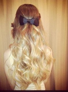 bows in hair
