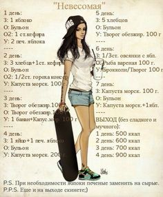 """Диета """"Невесомая"""" Lose Weight, Weight Loss, Anorexia, Russian Recipes, Slim Body, Perfect Body, Food Hacks, Physique, Health Fitness"""