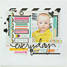 #papercraft #scrapbook #layout     Everyday I love you more - Two Peas in a Bucket