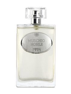 Muschio Nobile Eau de Parfum by  Nobile 1942 $142.00 - Sophisticated, yet pure and clear, this perfume conveys the typical sensation of freshness characteristic of Bergamot , pepper, white tea, carrot seeds, iris, white musk, jasmine, white flowers, wild silky notes, powdery musk, amber, benzoin, sandalwood.