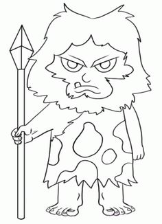 Prehistory coloring pages printable games How To Draw A Caveman, Free Coloring Pages, Coloring Books, Online Drawing, Projects To Try, Cute Animals, Printables, Drawings, Kids