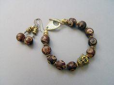 Tibetan Secret bracelet and earrings set (Customer Design) - Lima Beads