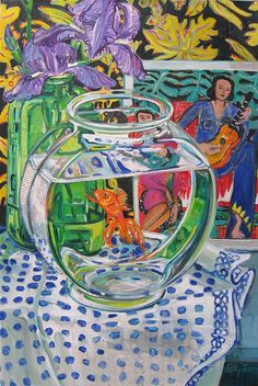 by Polly Jones /// If you enjoy Still Life paintings, you will love her page. She doesn't copy anyone, but you will find yourself thinking of Van Gogh and Matisse! Pretty Art, Cute Art, Arte Peculiar, Arte Indie, Arte Sketchbook, Funky Art, Hippie Art, Psychedelic Art, Pics Art
