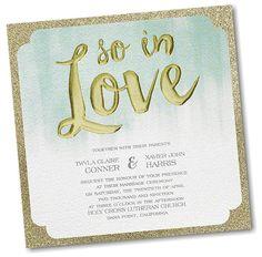 Whimsical Watercolor Layered Wedding Invitation