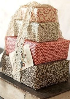 presents---good idea for when you have 5 kids to give presents too..just put all of there's individually together! very cute idea!--nice and organized!
