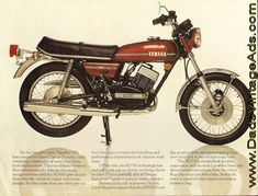 1974 Yamaha RD350 original Brochure