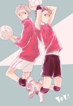 Yaku Morisuke & Nishinoya Yuu - Haikyuu!! / HQ!!