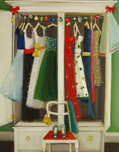 The Social Season | Painting by Janet Hill | I want all of those dresses.