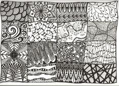 creative zentangle designs | Zentangles - A Sampler This Time