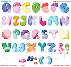http://images.clipartof.com/Cartoon-Of-Colorful-Capital-Bubble-Letters-And-Punctuation-Royalty-Free-Vector-Clipart-10241146152.jpg