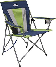 Equip Summit Pro Chair Navy BlueGreen ** Read more at the image link. (This is an affiliate link) Camping Furniture, Camping Chairs, Outdoor Furniture, Camping Set Up, Camping And Hiking, Navy And Green, Navy Blue, Outdoor Gear, Outdoor Chairs