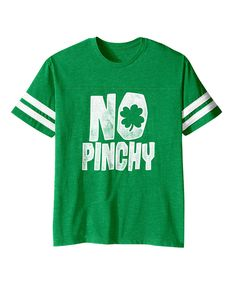 Look at this Vintage Green 'No Pinchy' Football Tee - Toddler & Kids on #zulily today!