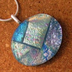 Dichroic Fused Glass Pendant Dichroic Jewelry by GlassMystique