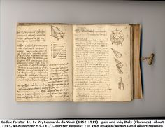 Leonardo da Vinci:  one of da Vinci's journals (Codex Forster) about 1505