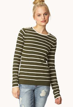 The best time to wear a striped sweater is all the time. #ForeverHoliday