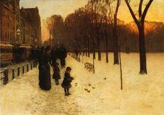 Childe Hassam, Boston Common at Twilight, 1885/ 1886, Museum of Fine Arts, Boston