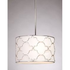 Sent by KD - Morocco Chrome Four Light Chandelier Steven Chris Lighting Drum Pendant Lighting Ceiling L