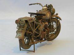 1/9 Harley Davidson US WWII Motorcyle-Italeri