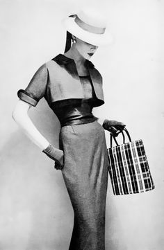 """Harper's Bazaar 1954 - Would have loved to be around for that """"time"""".  Love the clothes and the simplicity."""