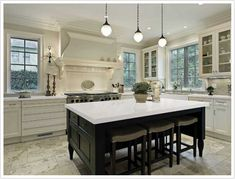 CarraraQuartzby MSI is reminiscent of Carrara Marble, but are designed to be durable, and maintenance free. If you desire the look of the world's most popular marble, but in easy care quartz, this may be the right solution. Quartz countertops are well-suited for both residential and commercial installations, and go great with dark brown or …