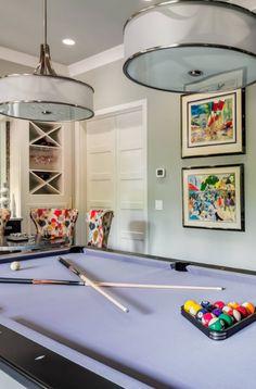 43 Billiard Room Design Ideas | Sebring Design Build Billiard Pool Table, Billiards Pool, Antique Pool Tables, Pool Table Room, Game Room Basement, Pool Table Lighting, Basement Remodeling, Family Room, Interior Design