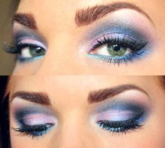 Pinks, purples and blues